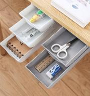 Stackable Hidden Office Drawer Organizer Under Desk Pen Holder Home Office Stationery Box Space Save