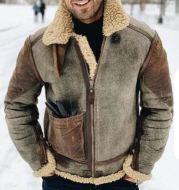Men's Warm Jacket Lamb Wool Padded Jacket Winter Hot Coat