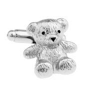 Men And Women Universal Silver Shape Metal Bear Cufflinks