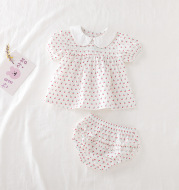 Summer Korean Floral Baby Short Sleeve Two-Piece Suit