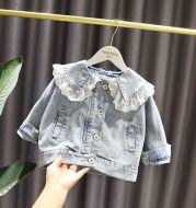Fashion Girls Loose Western Style Lace Denim Jacket