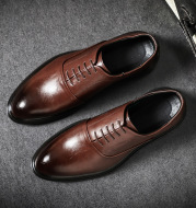 Pointed Casual Men's Shoes Business Work Leather Shoes