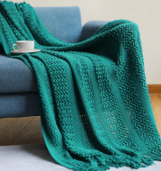Nordic Sofa Blanket Knitting Homestay Hotel Bed Flag
