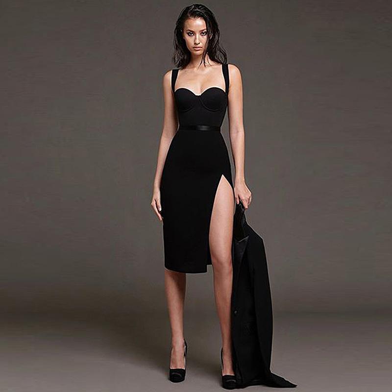New Summer Women Elegant Black Bandage Dress Sexy Dress
