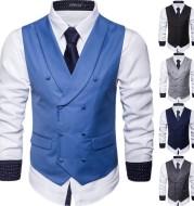 Men's Business Suit Waistcoat EBay European Size Slim Waistcoat