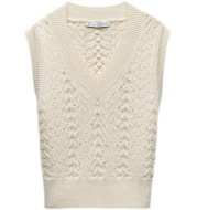 Spring New Faux Pearl Inlaid Knitted Vest