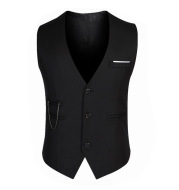 Men's Casual Suit Vest British Slim Waistcoat Vest