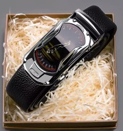 Belt Men's Leather Top Layer Cowhide Automatic Buckle