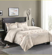 Three-piece Simple Plain Black Printing Bedding Set