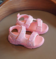 Non-Slip Beach Shoes Female Treasure Sequined Soft Sole Baby Princess Shoes
