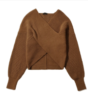 Outer Wear Loose and Lazy Cross V-neck Pullover Sweater