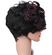 African Wig Short Curly Hair Female Fluffy Natural Short Curly Hair