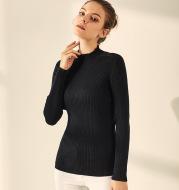 Silk and Cashmere Blend Turtleneck Slim Shirt Women Pullover