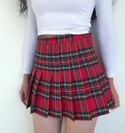 Retro High Waist Slim College Style Pleated Skirt