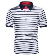 Striped Body Design Casual Men's Short Sleeves