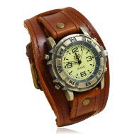 Vintage Leather Watch Bracelet, Versatile Fashion Men and Women
