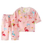 Pajamas Cotton Silk Baby Home Service Suit Three-Quarter Sleeves