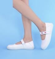 Autumn Cowhide Nurse Shoes Soft Sole