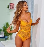 Sexy Lace And Eyelashes Sexy Breast Support Underwear Bottoming Bodysuit