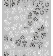 Nail Sticker Export Black and White Line Nail Sticker