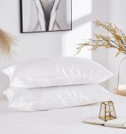 Simple Pillowcase Satin Imitation Silk Pure Color Bedding