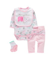 Four-piece Baby Romper Suit for Men and Women