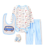 Cartoon Four-piece Baby Clothes 0-1 Year Old Baby Jumpsuit