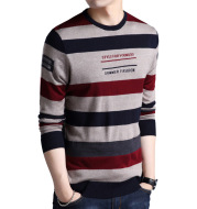 Youth Striped Casual Pullover Sweater