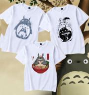 Top Printed Cute Totoro CAT BUS Letter Cute Short Sleeve