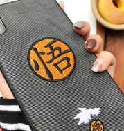 Embroidery Mobile Phone Case Anti-Drop Soft Shell Animation