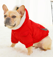 Law Fighting Clothes Dog Cotton Winter Pet Clothes Plus Velvet Thickening