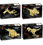 Dinosaur Skeleton Model Lego Blocks Intelligence Assembled Small Particle Toy