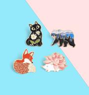 Cartoon Animal Brooch Cute Accessory Medal