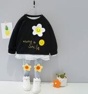 Children's Suit Spring Girl Korean Style Flowers