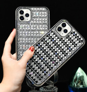 Diamond-studded Glass Triangle Diamond Mobile Phone Case