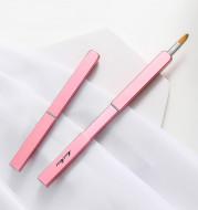Mint Bear Retractable Portable Lip Brush Rose Fiber Hair Lipstick Brush