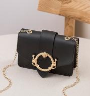 New Round Lock Pendant Chain Small Square Bag