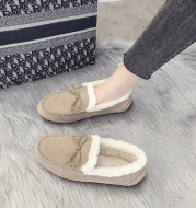 New Beef Tendon Soft-Soled Peas Shoes, Korean Style Flat Cotton Shoes