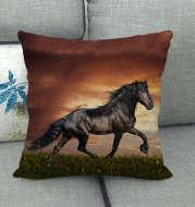 Flax Digital Printed Horse Pattern Pillowcase