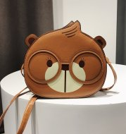 Cute Squirrel Small Round Bag Fashion One Shoulder Messenger Bag Women