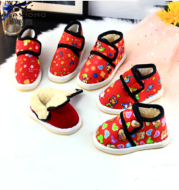 Handmade Cotton Shoes Non-slip Thick Warm Shoes