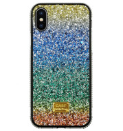 Suitable For Rainbow Pasted Leather Diamond Mobile Phone Case