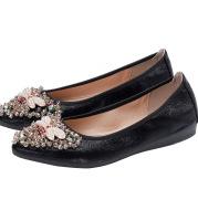 Rhinestone Single Shoes Women Korean Student Casual Shoes