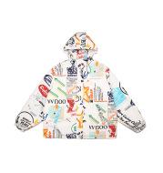Trendy Brand hip-hop English Print Hooded Jacket