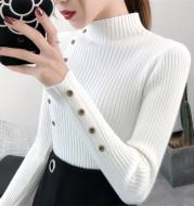 Slim Slimming Bottoming Sweater Long Sleeve Half High Collar