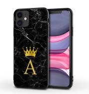 New Marble English Alphabet Crown Phone Case