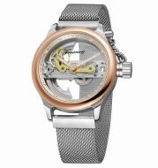 Fashion Leisure Waterproof Mesh Belt Tourbillon Automatic Mechanical Watch