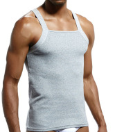 Pure Color Base Vest Sports Home Sweat-Absorbent Thread Cotton