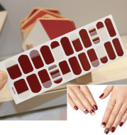 Nail Art Stickers Waterproof Colorful Christmas Letters