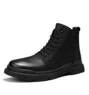 Martin Boots Men's British Style High-top Leather Boots Korean Style Trend